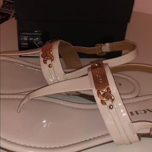 *WORN ONCE*Coach Catherine White Patent Sandals